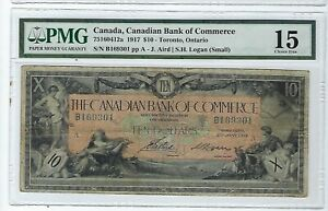 1917-10-The-Canadian-Bank-of-Commerce-Currency-Toronto-PMG-Choice-fine-15