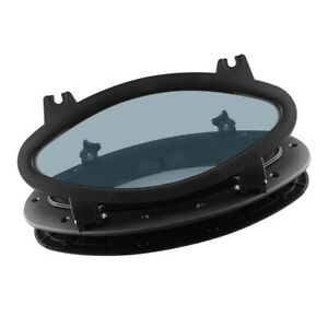 White Rectangular Opening Porthole-Marine//Boat//RV Portlight Access Hatch Window