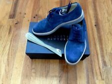 Barney's New York Men's Made In Italy Blue Suede Bluchers Shoes 9M