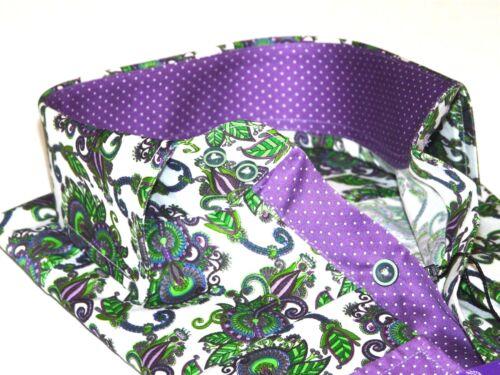 Men Shirt J.Valintin Turkey-Usa 100/% Egyption Cotton Axxess Style A113-12 Green