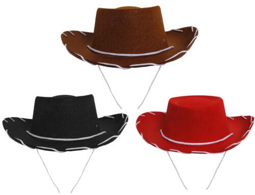 Paquete De 6 Niños Sombrero de vaquero 52 cm Vaquera Vestido de fantasía Traje de Disfraz Accesorio