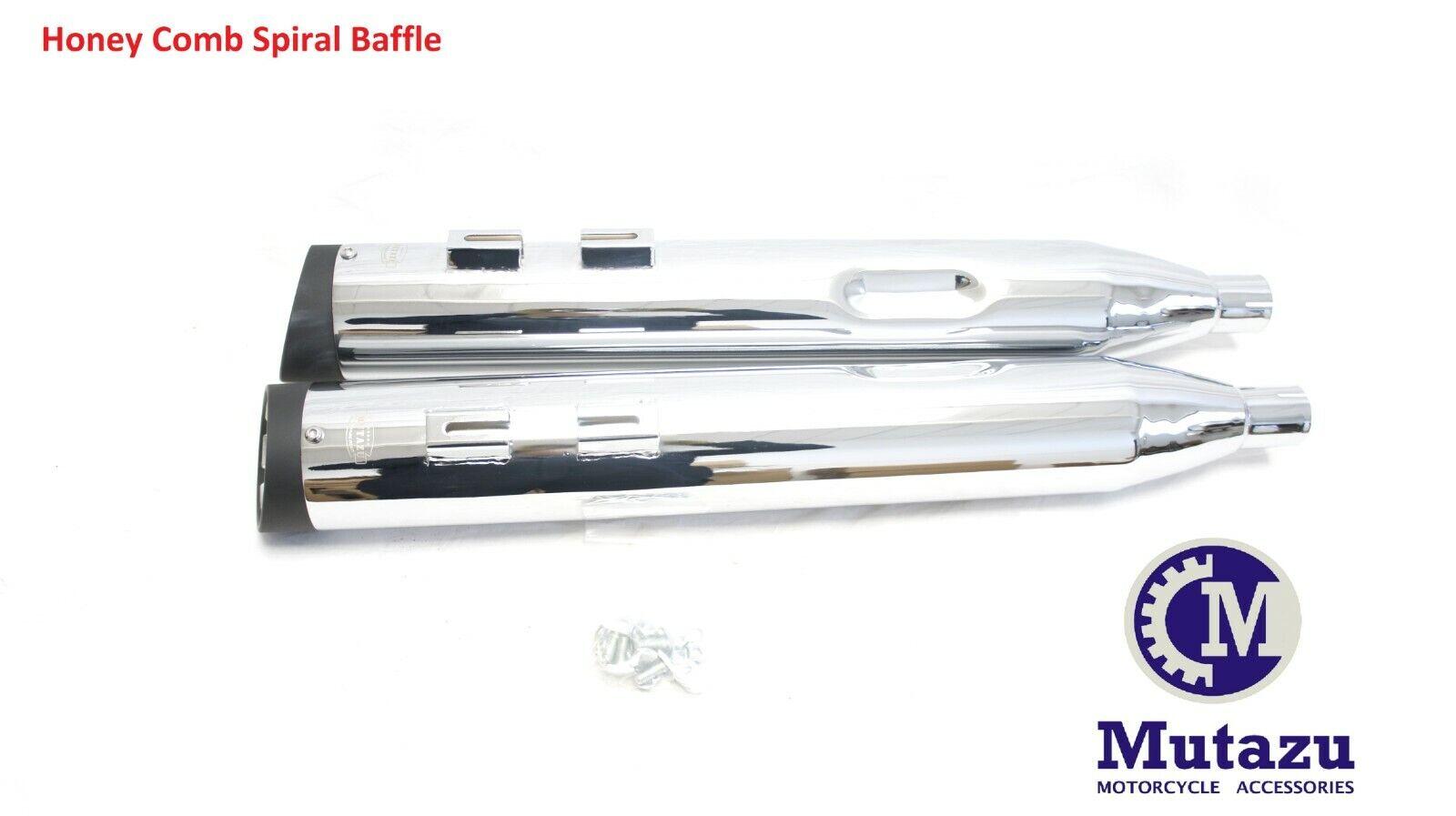 MUTAZU Dual Cut Thunder VM06 Slip On Mufflers Exhaust Victory Cross Country Road