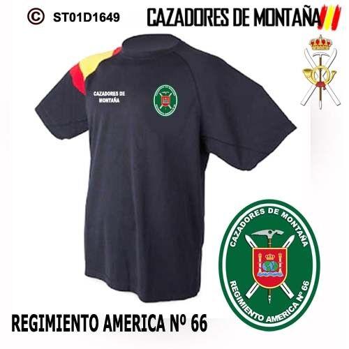 REGIMIENTO AMERICA Nº 66  M2 CAMISETAS TECNICAS CAZADORES DE MONTAÑA
