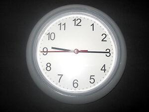 Ikea Wall Clock White Clear Battery Operated Modern Home