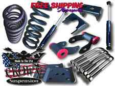 "Crown Suspension 2015-2017 Ford F150 3""-5"" Drop Lowering Coils Flip Kit Shocks"
