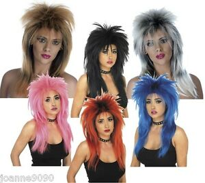 Image is loading 80s-Ladies-Glam-Punk-Rock-Rocker-Chick-Tine-  sc 1 st  eBay & 80s Ladies Glam Punk Rock Rocker Chick Tine Turner Wig For A Fancy ...