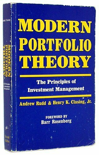 Modern Portfolio Theory: The Principles of Inv... by Clasing, Henry K. Paperback