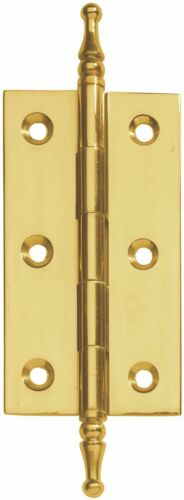 "3/"" X 1-5//8/"" Narrow Butt Hinge Decorator Tip Solid Satin Brass 1 Pair-Vertex"