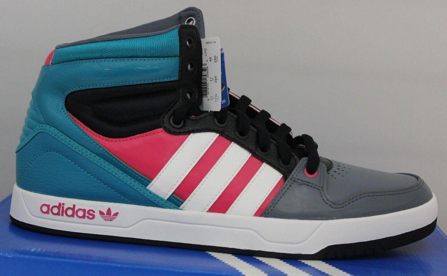 Herren Adidas Hof Haltung Original Basketballschuhe Aquamarin  Schwarz  Rosa