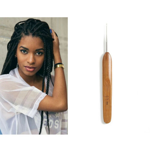 Crochet Needle Hook Bamboo Handle Hooks Tools Making Dreadlock Braiding Hair