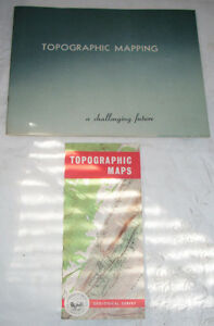 Lot-of-Two-1960s-USGS-Topographic-Mapping-Publications