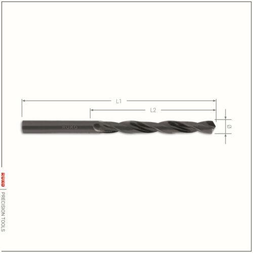 RUKO Metallbohrer Spiralbohrer DIN 338 HSS-R Typ N Ø 0,3-0,5mm