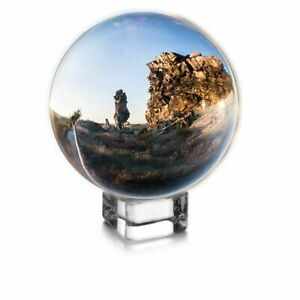 Meditation Crystal Ball 80mm Magic Globe with Free Stand