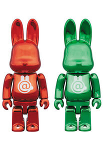 Medicom 100/% Bearbrick Rabbrick ~ R@bbrick Chrome RED Be@rbrick