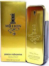 PACO RABANNE 1 MILLION EAU DE TOILETTE SPRAY FOR MEN 3.3 Oz / 100 ml BRAND NEW !