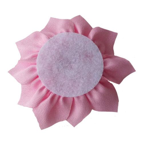 CREAM IVORY Fabric Flowers CRAFT Glue//Sew On Embellishment Applique Garment Hair
