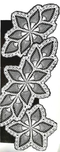 Reproduction 467 Vintage Mail Order PINEAPPLE DOILIES Pattern to Crochet 3-SZS