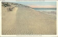 Nantucket MA c1910 Detroit Publishing Postcard SAND DUNES ON SHORE