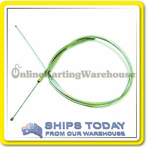 GO-KART-THROTTLE-CABLE-ACCELERATOR-CABLE-HDuty-STEEL-BRAIDED-Rotax-TAG-etc-LONG