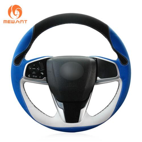 Top Design Soft Leather DIY Car Steering Wheel Cover for Honda Civic 10 CRV CR-V