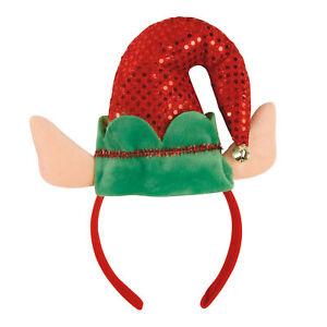 Haarreif-Weihnachtswichtel-mit-Ohren-Wichtel-Weihnachten-Fasching-Party