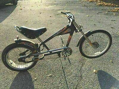 "16/"" Black Old School Bicycle Banana Saddle Vinyl Cruiser Chopper Bike"