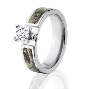 981d17045 Mossy Oak Break Up Infinity Camo Ring, Camo Engagement Rings , 1CT ...
