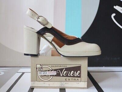 Efficiente A. Ad Verese Scarpe Donna Sandali Pumps 70er True Vintage 70s Women's Shoes Nos-mostra Il Titolo Originale