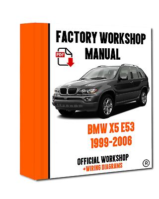 official workshop manual service repair bmw series x5 e53 1999  2006  ebay