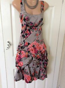 Monsoon-Carmel-Bouquet-Hitched-Dress-Size-8-10-Immac-Hols-13-6-To-20-6