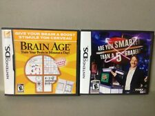 **2 Games: Brain Age, Are You Smarter Than a 5th Grader?  (Nintendo DS)