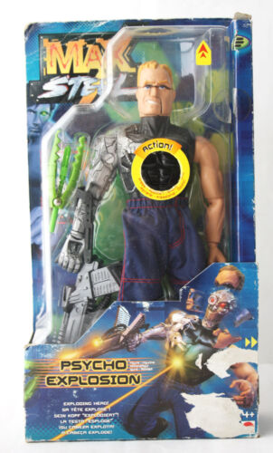 VERY RARE MAX STEEL PSYCHO EXPLOSION FIGURE MATTEL 2000 EUROPEAN NEW SEALED !