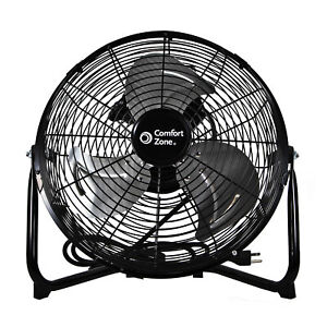 Comfort Zone CZHV12B 12-Inch 3 Speed 180-Degree Adjustable Cradle Fan, Black