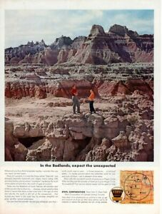 Vintage-advertising-print-Gas-Oil-Ethyl-Corp-In-the-Badlands-Sioux-called-Dakota
