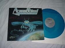 AGENT STEEL Mad Locust Rising '86 RARE BLUE !! vinyl ORIG US Combat SILVER NMin