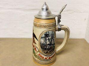 Anheuser-Busch-Budweiser-Lidded-Beer-Stein-Limited-Edition-Series-N-Christmas