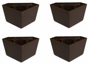 Set-of-4-Universal-Dark-Brown-Plastic-Furniture-Triangle-Legs-Sofa-Couch-Chair