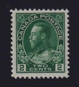 Canada-Sc-107a-1924-2c-deep-green-Admiral-Thin-Paper-Mint-VF-NH