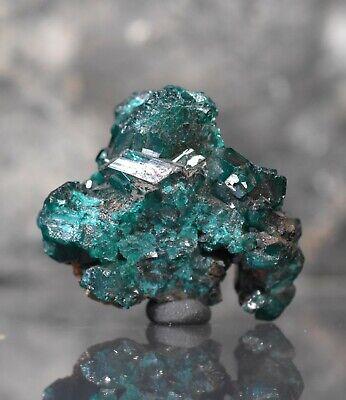 dioptase mineral specimen with quartz  Congo dioptase