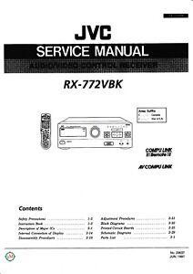 Tv, Video & Audio MüHsam Service Manual-anleitung+instruction Book Für Jvc Rx-772 üBereinstimmung In Farbe