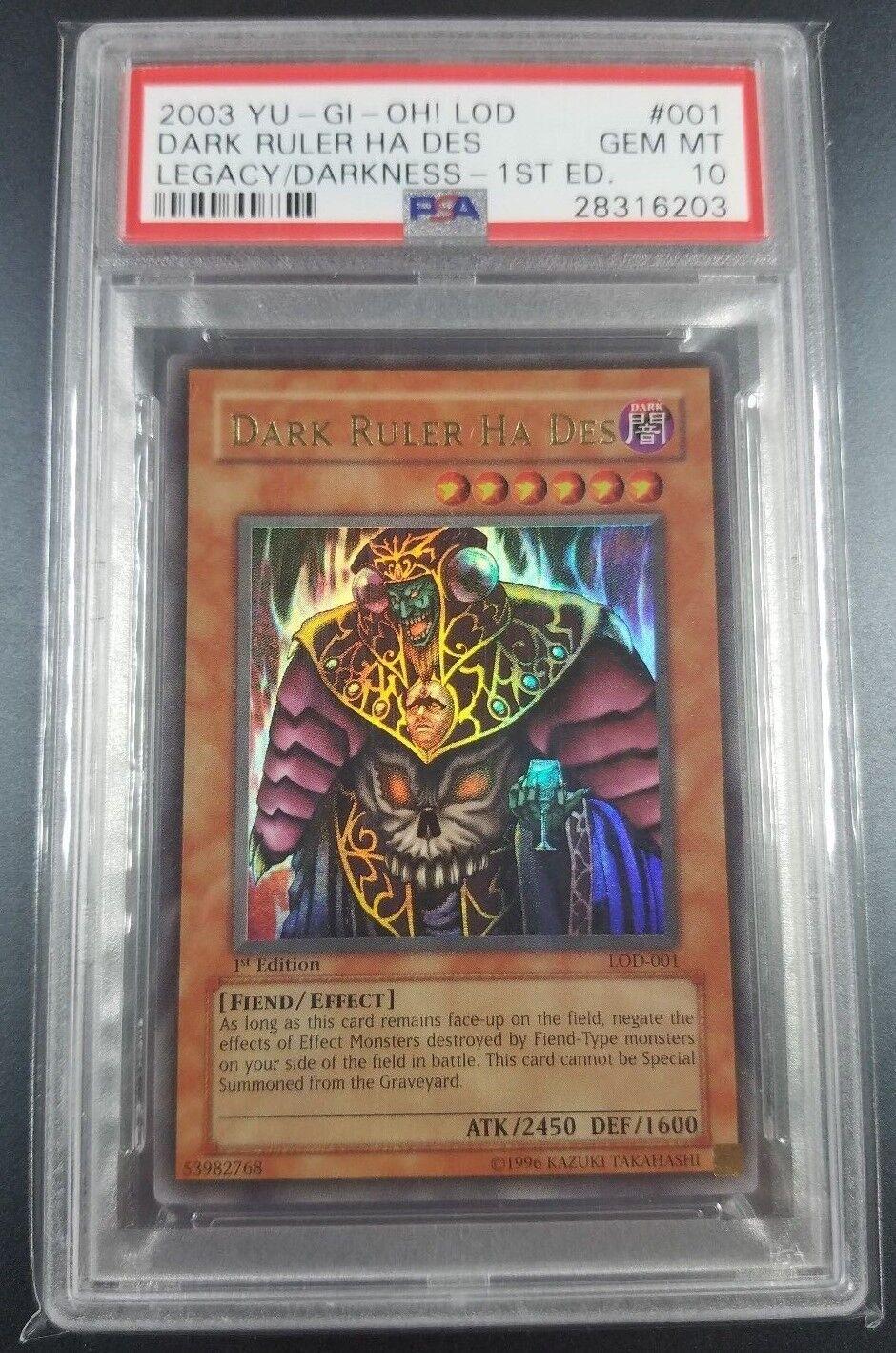 YuGiOh PSA 10 Dark Ruler Ruler Ruler Ha Des  LOD-001 Legacy of Darkness 1st Ultra Rare 43bc17