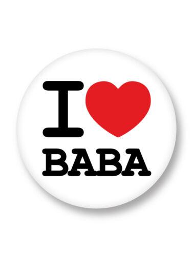 """Pin Button Badge Ø25mm 1/"""" I Love Heart J/'aime Cyril Hanouna BABA TPMP"""