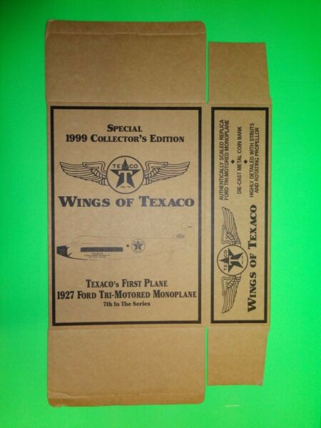 #7 TEXACO 1927 FORD TRI-MOTORED MONOPLANE AIRPLANE SPECIAL EDITION - BOX ONLY