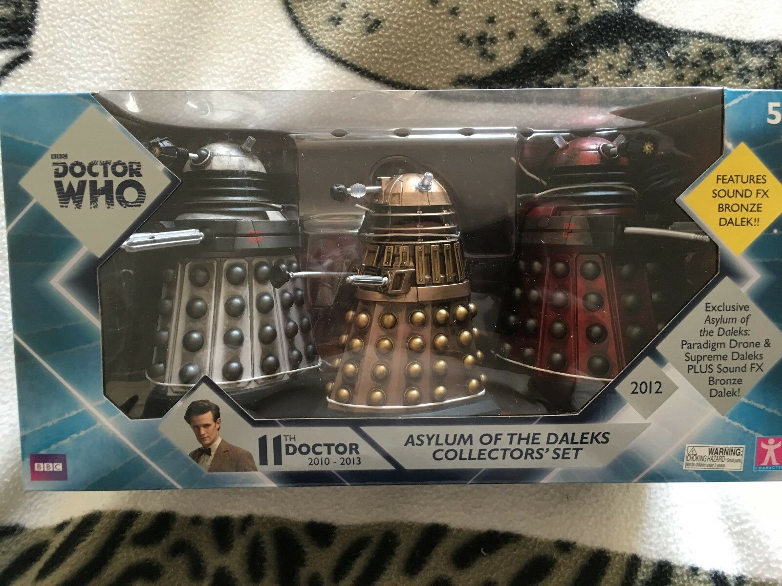 Doctor who Asylum of the daleks daleks daleks  collector  three figure set with sounds 123bc1