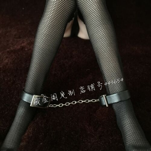 "1:6th Scale Black SM Handcuffs//Footcuffs For 12/"" Female PH UD JO Figure Doll"