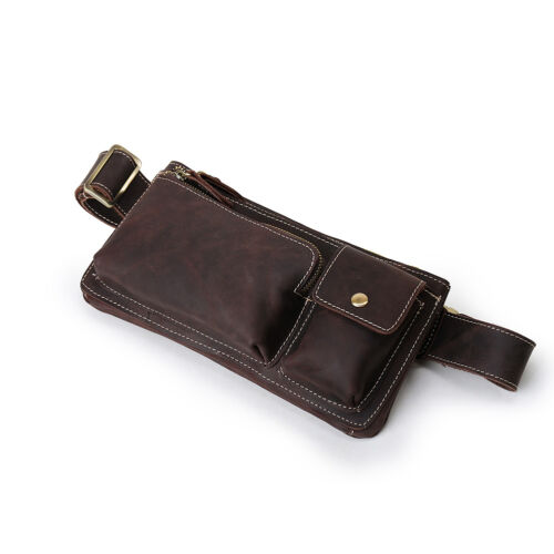 Men's Fanny Waist Bag Hip Bum Belt Packs Phone Pouch Sport Retro Leather Gift