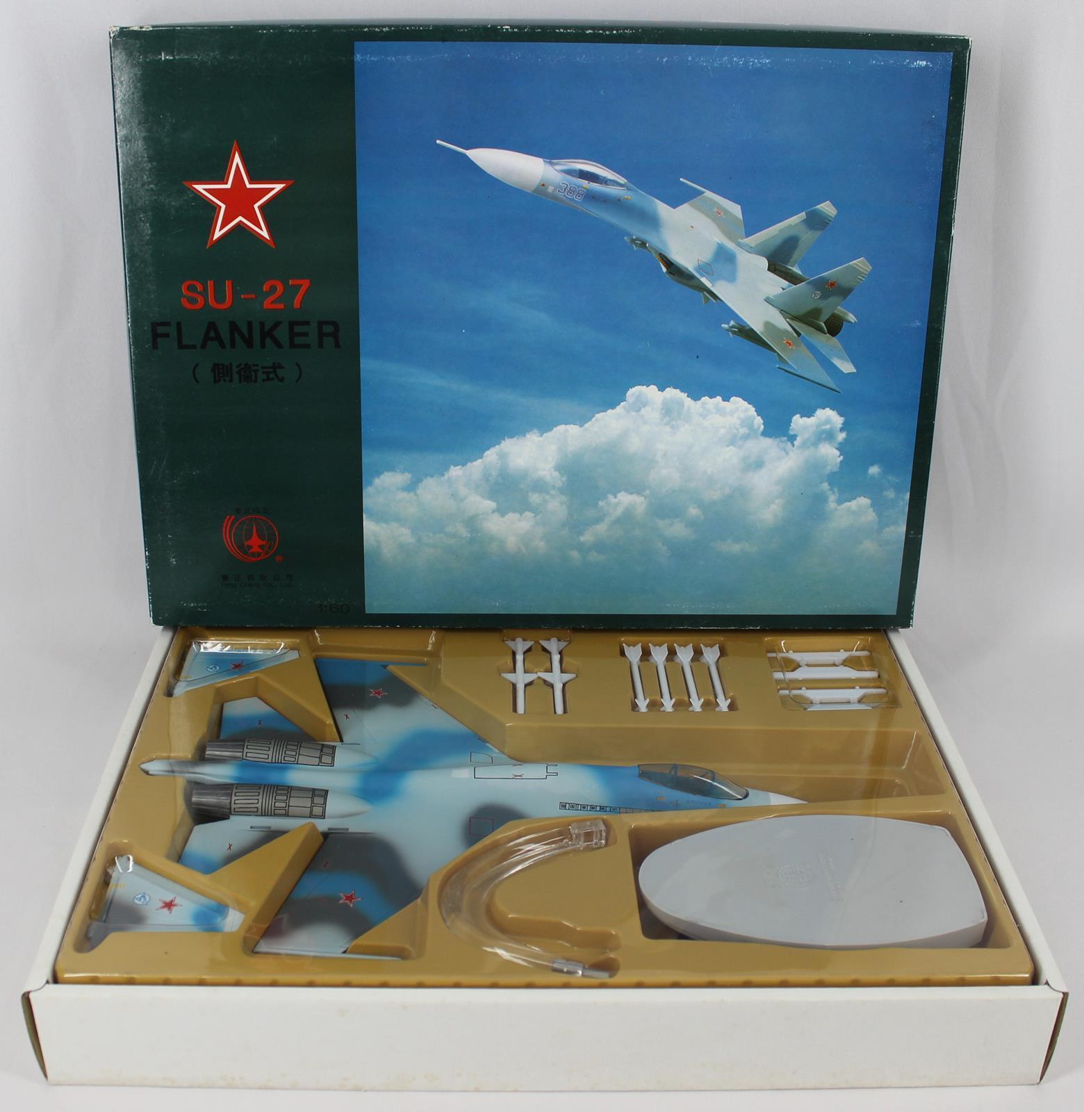 Phoenix Model Corp  1036 SU-27 Flanker Russian Fighter 1 60 Scale NEW - OPEN BOX
