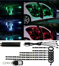 18 Color 6Pcs RGB Motorcycle ATV Flexible Strip LED Light Lamp NEON Remote Kit