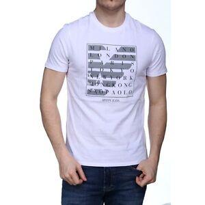 About Mens T White Sizes Location Bnwt Shirt Armani Jeans Details All Print CQrdWBoxeE