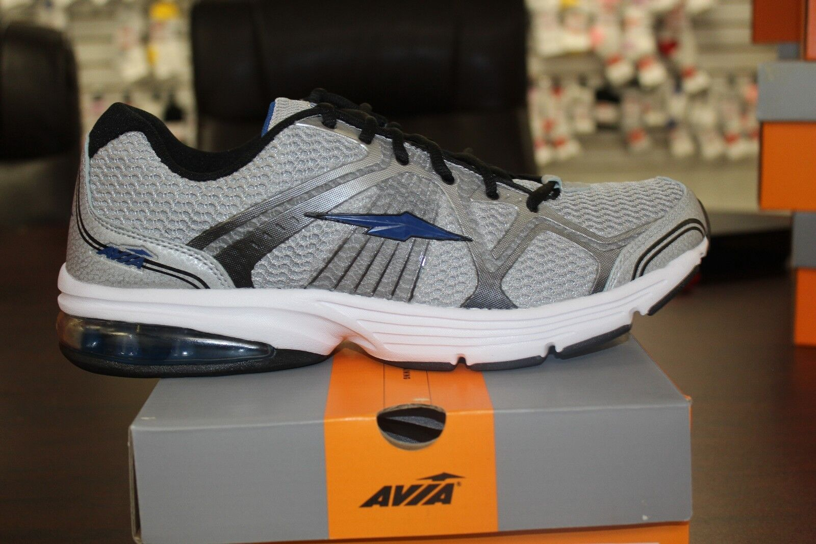 Men's Avia Running Sneakers A5251MSDX Grey Navy Black Cross Training shoes